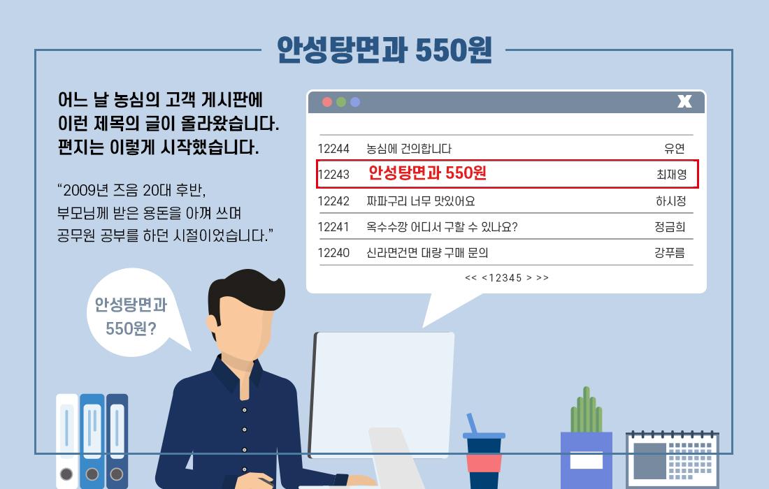안성탕면과 550원 News01